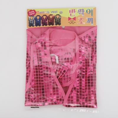 반짝이 조끼 아동 M (핑크)