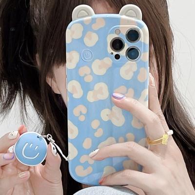 아이폰 12 11 pro max se2 곰돌이귀 스마일키링케이스