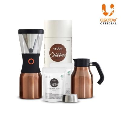 아소부 NEW 콜드브루 커피메이커 + 분쇄원두 2팩