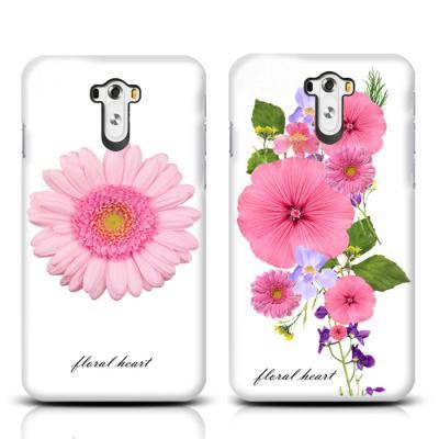 핑크 플라워 하트 하드 케이스(LG G3)