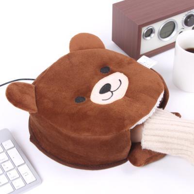 브라운베어 USB온열마우스패드 손목쿠션 (아답터추가)