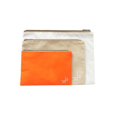 사이즈 마크 파우치 3P - 오렌지