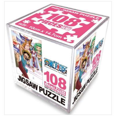 원피스 직소퍼즐 미니 Cube 108pcs: 여인섬의 모험