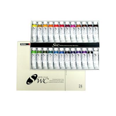 SWC 수채화 24색세트 (15ml*24색)