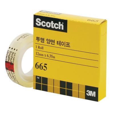 3M 스카치™ 투명 양면테이프 리필 665R (12mmx6.35m)