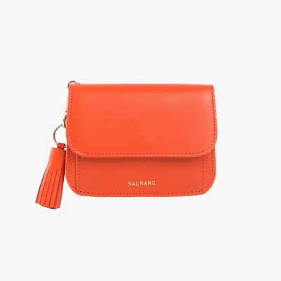 Dijon N301R Round Card Wallet Coral Orange