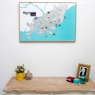 지구별 여행스케치  부산지도 - 블루