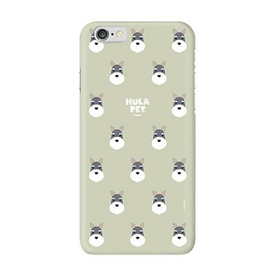 HULA PET PATTERN CASE (Schnauzer) / 아이폰 케이스