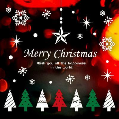 제제데코 크리스마스 눈꽃 스티커 장식 CMS4J242