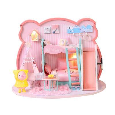 DIY 미니어처 하우스 - 핑크 피그 하우스