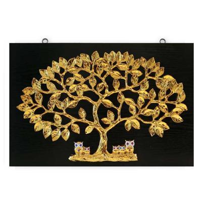 Home gallery 황금나무 부엉이 골드600x400mm