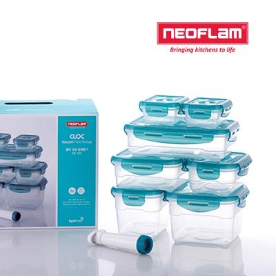 네오플램 클락 진공 밀폐용기 8종세트