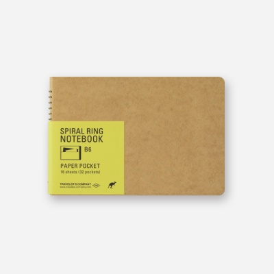 SPIRAL RING NOTEBOOK (B6) Paper Pocket