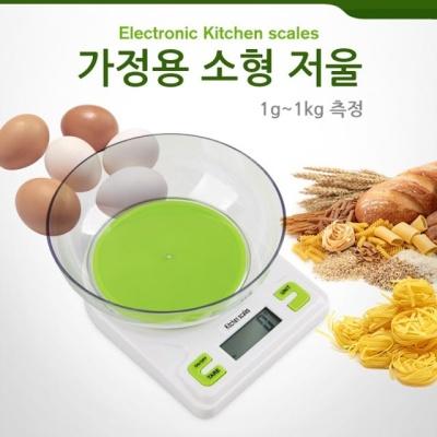 Coms 가정용 소형 저울접시 포함 1g1kg