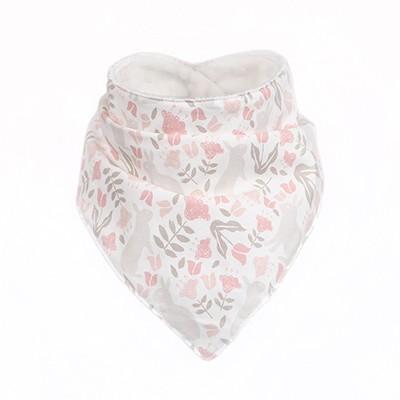 [아이렌즈블랭킷] 극세사 스카프빕 / 아기목도리 - 아기자기한 토끼 무늬