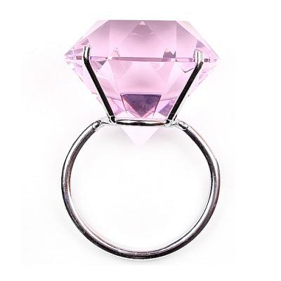 빅 다이아몬드 반지(핑크)