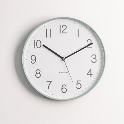카파 무소음 IP250 그린 프레임심플 인테리어벽시계