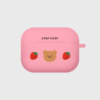 Dot strawberry bear-pink(Air pods pro case)
