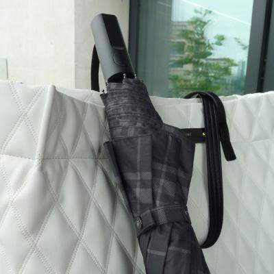 SW 2단 모던체크 반 자동우산 고급우산 접이식우산