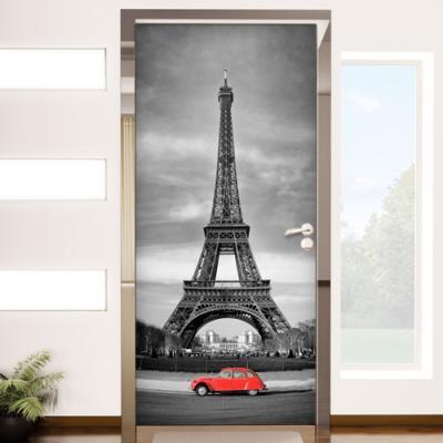 af613-에펠탑앞레드카_현관문시트지