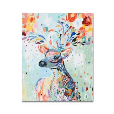 DIY 보석십자수 - 무지개행운의 사슴 BEE01 (40x50)