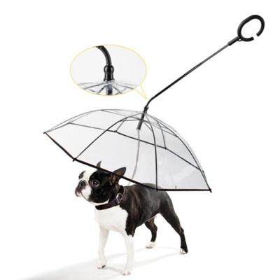 튼튼한 반려동물 C형 손잡이 투명 우산 8개살 우비