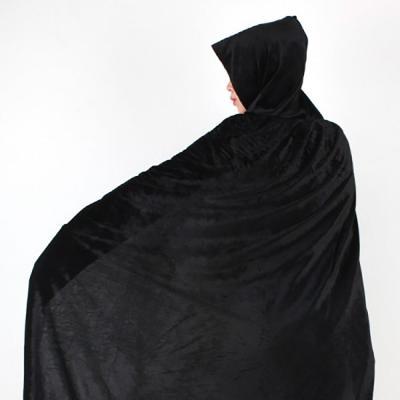 벨벳 후드 망토 (여성용/블랙)