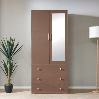 [노하우] 로데 LPM 800 거울 3단서랍 도어옷장 (장롱)