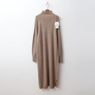 Laine Wool Cashmere Turtleneck Long Dress
