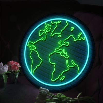 nh924-LED액자45R_네온효과빛나는지구