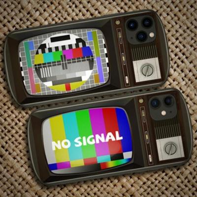 아이폰 아날로그 TV 화면조정 강화유리 하드 케이스