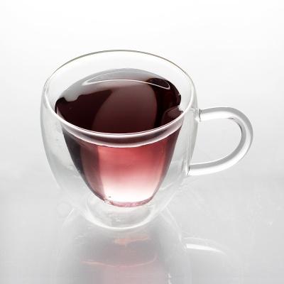 [로하티]하트 이중 유리잔 270ml/ 예쁜 유리컵