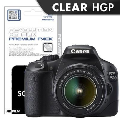 [프로텍트엠/PROTECTM] canon 캐논 EOS 550D 레볼루션HD 올레포빅 투명유광 액정보호필름 2장