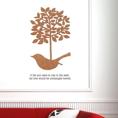 [우드스티커] 새와나무장식 (컬러완제품)