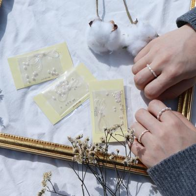 Dahlia 담수 진주 비즈 반지 만들기 DIY KIT 3type