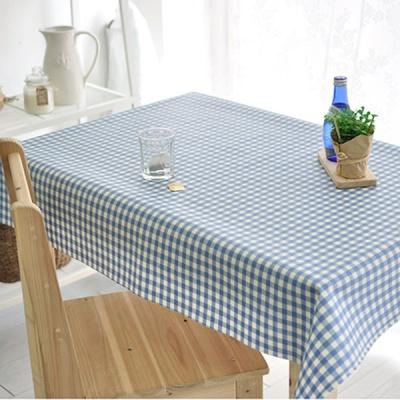 멀티체크 방수식탁보-블루(2인~10인용)