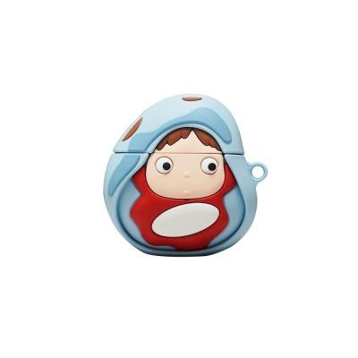 에어팟프로 3세대 젤리케이스 키링_물고기소녀256/PRO
