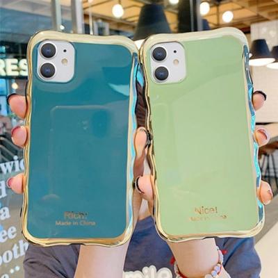 아이폰11 pro max xr xs se2 물결 골드핏 젤리 케이스