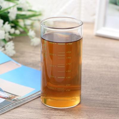[로하티]눈금패턴 내열 유리컵(350ml) (그린)/ 주스잔