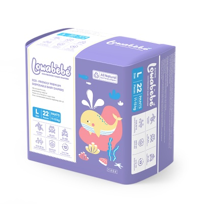 [로와베베] 팬티형기저귀 3단계(L 11~15kg) 1팩