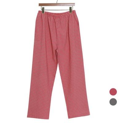 [쿠비카]미니 사각 체크 면 파자마 여성잠옷 W836