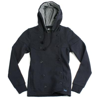 [etnies girls] GRETTA BUTTON UP FLEECE GIRLS JACKET (Navy)
