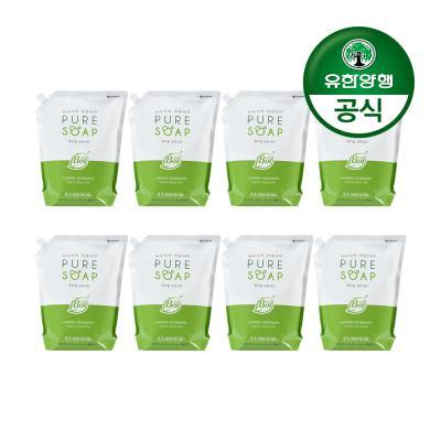 [유한양행]퓨어솝 세탁세제 리필2L(파우치) 8개