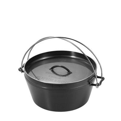 [유니프레임] 더치오븐 12인치 흑피철판 무쇠냄비