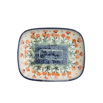 폴란드그릇 아티스티나 라운드직사각접시 소 패턴560