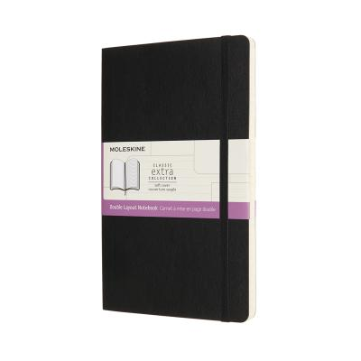 클래식노트-더블(룰드&플레인)/블랙 소프트 L