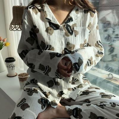 테디베어 순면 파자마 잠옷