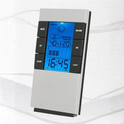 블루 디지털 온도계 탁상시계