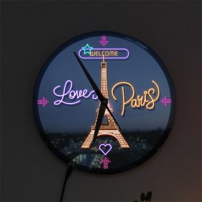 ng138-LED시계액자25R_파리에오신걸환영합니다