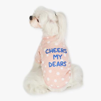 치어스 면 티셔츠 (핑크)